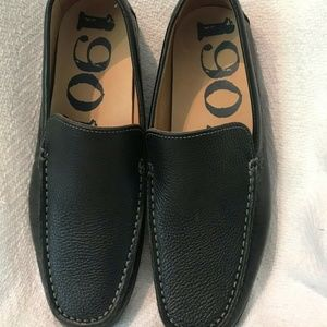 1901 Lugano Black Venetian Loafers Shoes Size 9M